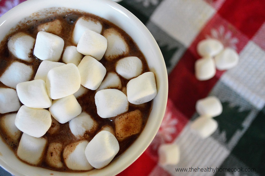 What sweeter way to enjoy Christmas than with this {Dairy Free} Toasted Marshmallow Hot Cocoa Cocktail?