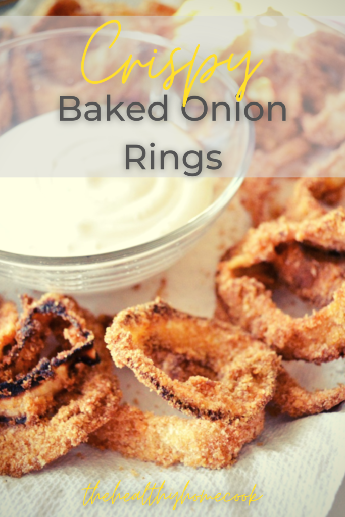 Crispy outside, tender inside, these homemade Crispy Baked Onion Rings are what dreams are made of!