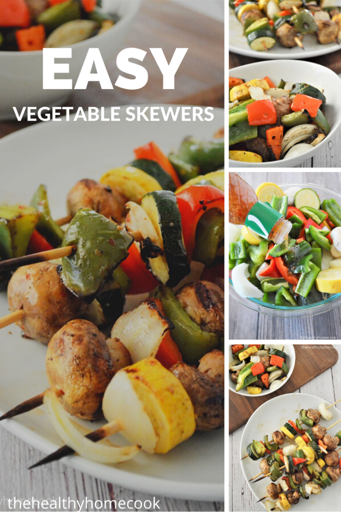 These Easy Vegetable Skewers are a no-brainer!  They are the best way to cook your veggies!