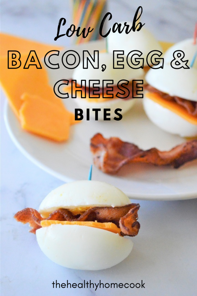 These Low-Carb Bacon Egg & Cheese Bites are an easy, delicious low carb breakfast, snack or appetizer.