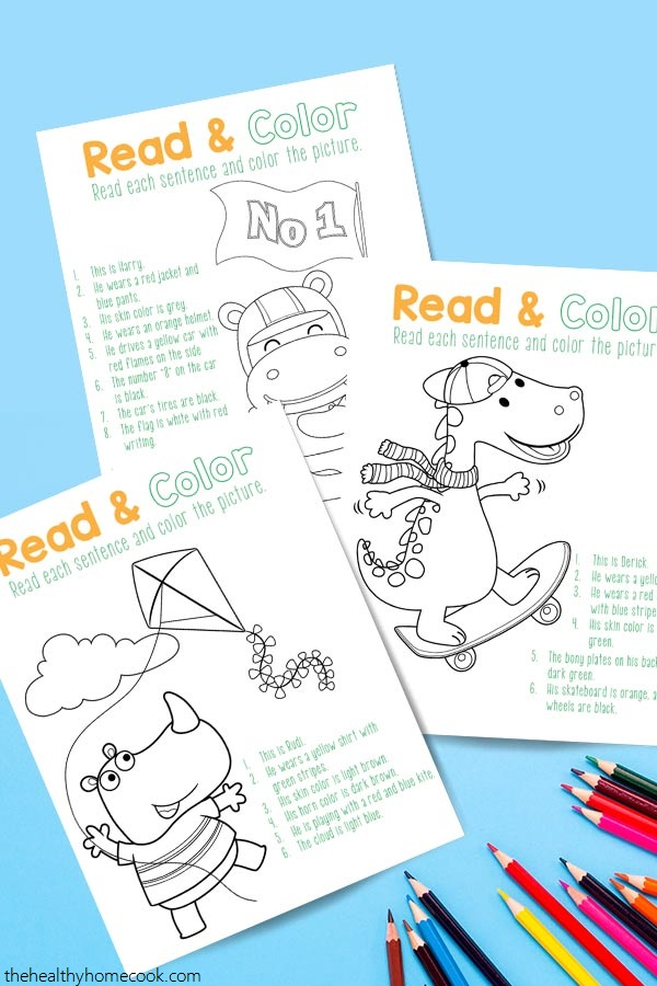 Combine reading and coloring for a fun learning activity your kids with love.
