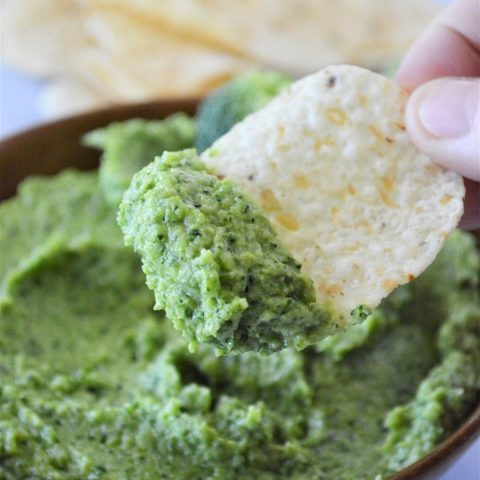 This Spicy Broccomole is the perfect combination of healthy broccoli and cool, creamy guacamole. It is sure to be your new favorite dip or spread!