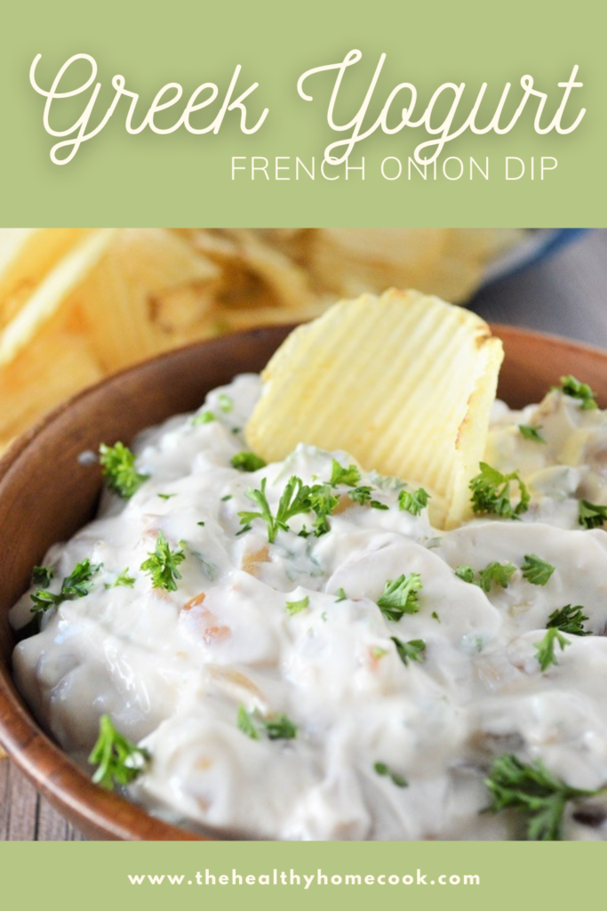 This Greek Yogurt French Onion Dip is so addictive and creamy, it'll be gone before you know it.