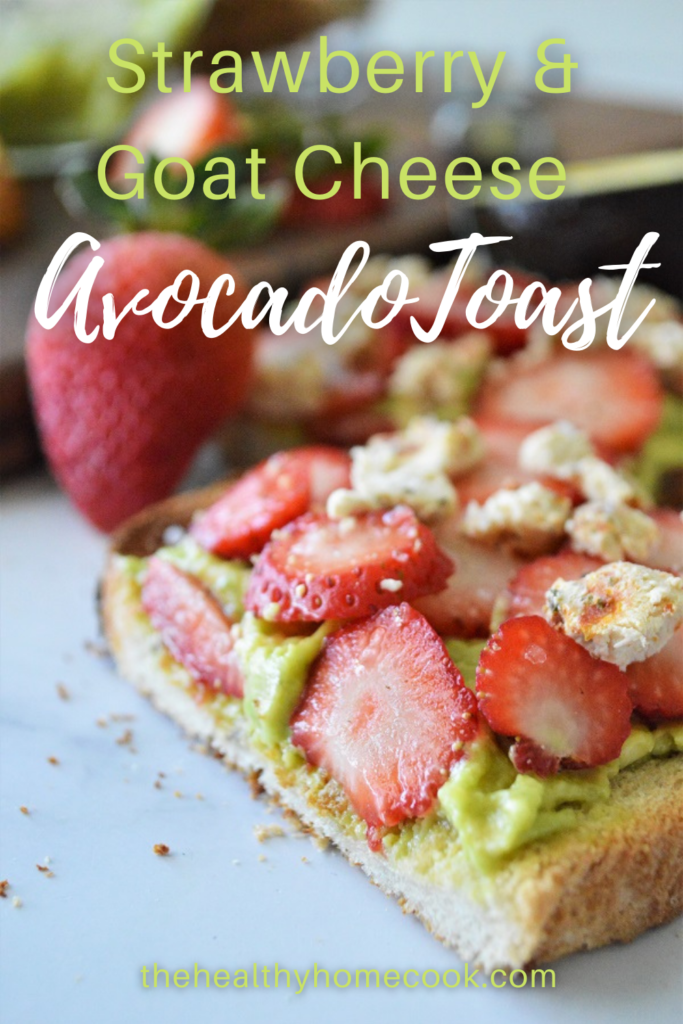 Strawberry & Goat Cheese Avocado Toast may look fancy, but it's super easy