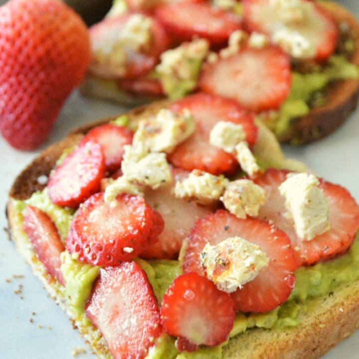 You will love this easy Strawberry & Goat Cheese Avocado Toast for breakfast, lunch, or snack time.